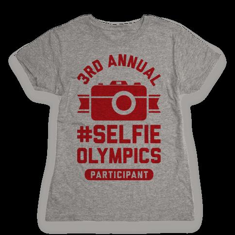 Selfie Olympics Womens T-Shirt