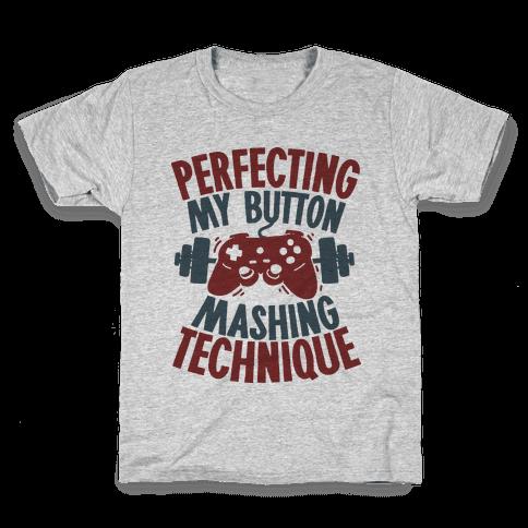 Perfecting My Button Mashing Technique Kids T-Shirt