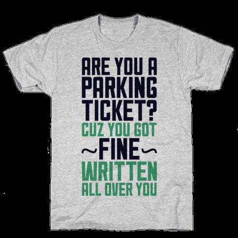 Parking Ticket Mens T-Shirt