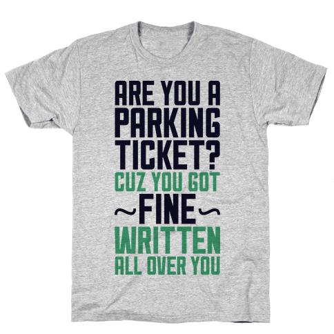Parking Ticket Mens T-Shirt
