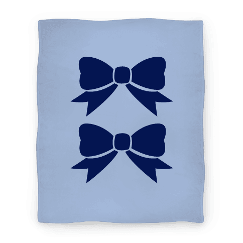 Blue Bows Blanket