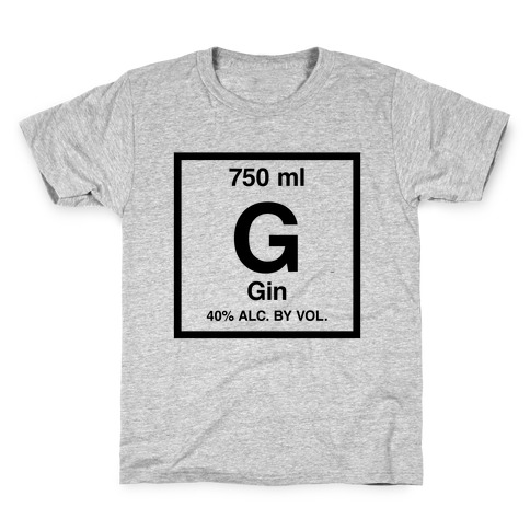 Gin Element (Periodic Alcohol) Kids T-Shirt