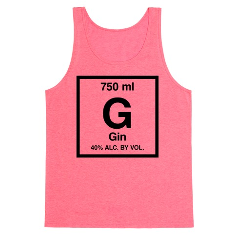 Gin Element (Periodic Alcohol) Tank Top