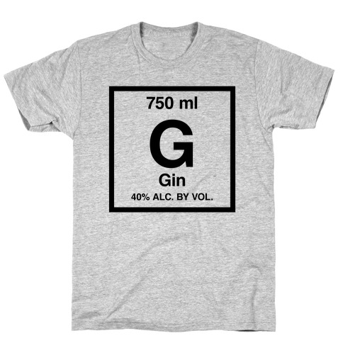 Gin Element (Periodic Alcohol) T-Shirt