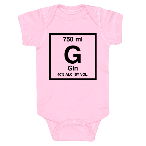 Gin Element (Periodic Alcohol) Baby Onesy