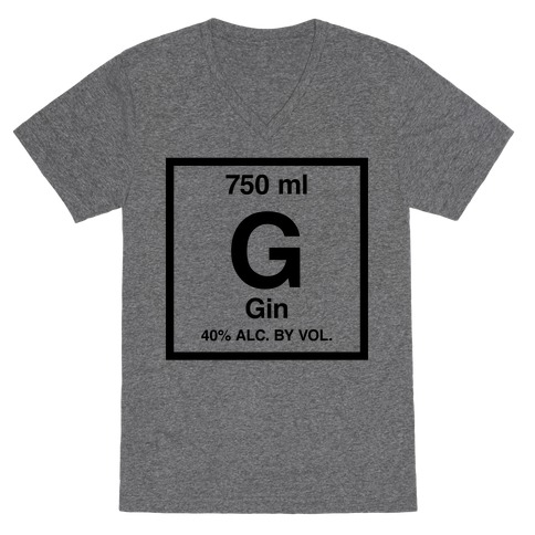 Gin Element (Periodic Alcohol) V-Neck Tee Shirt