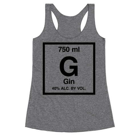 Gin Element (Periodic Alcohol) Racerback Tank Top