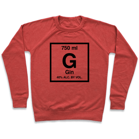 Gin Element (Periodic Alcohol) Pullover