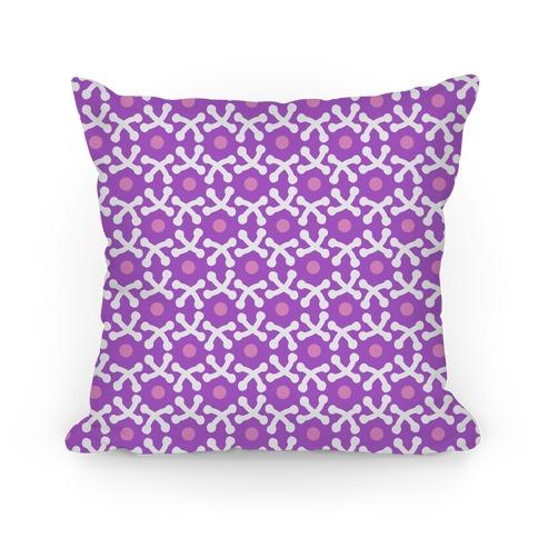 Purple Crafters Stitch Pattern Pillow
