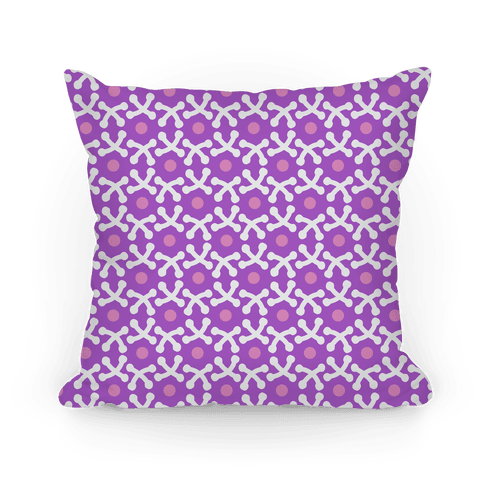 Purple Crafters Stitch Pattern Pillow