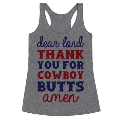 Cowboy Butts Racerback Tank Top