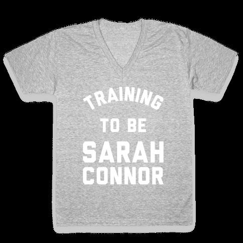 Training To Be Sarah Connor V-Neck Tee Shirt
