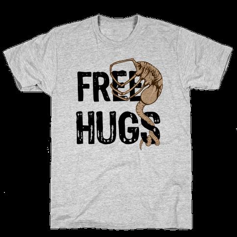 Free Facehugger Hugs Mens T-Shirt