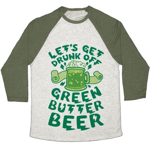 Green Butter Beer Baseball Tee