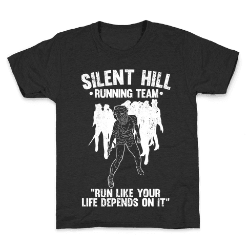 Silent Hill Running Team (White) Kids T-Shirt