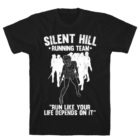 Silent Hill Running Team (White) Mens T-Shirt