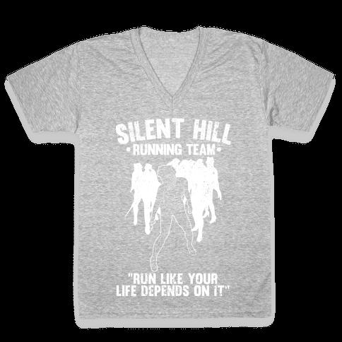 Silent Hill Running Team (White) V-Neck Tee Shirt