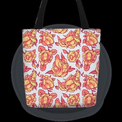 Floral Penis Pattern Orange