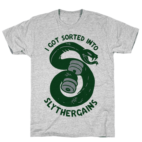 I Got Sorted into SlytherGAINS Mens T-Shirt