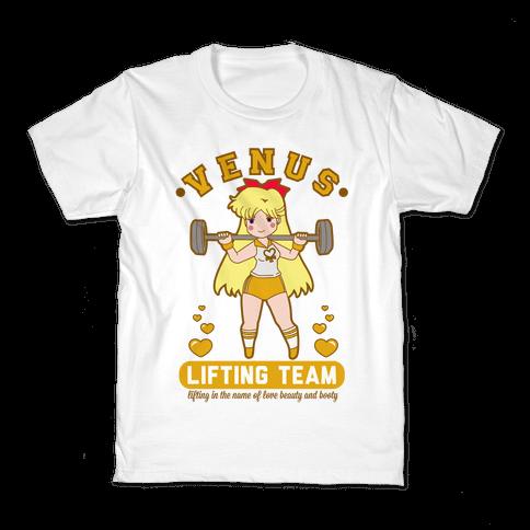 Venus Lifting Team Parody Kids T-Shirt
