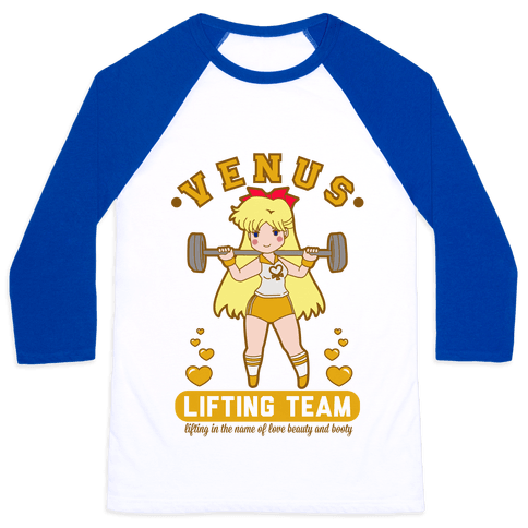 Venus Lifting Team Parody Baseball Tee