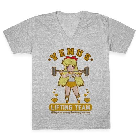 Venus Lifting Team Parody V-Neck Tee Shirt