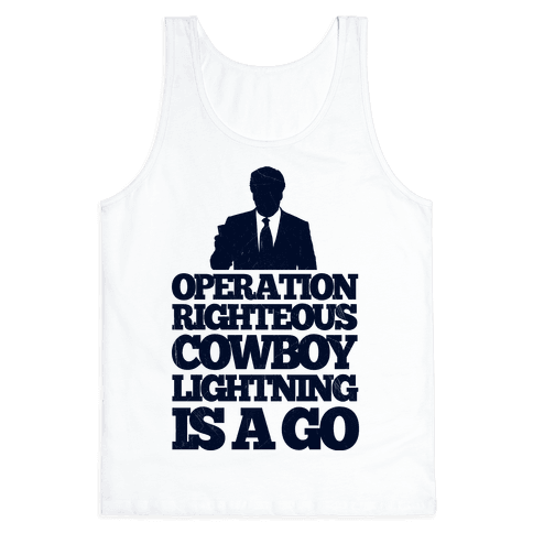 Operation Righteous Cowboy Lightning Tank Top