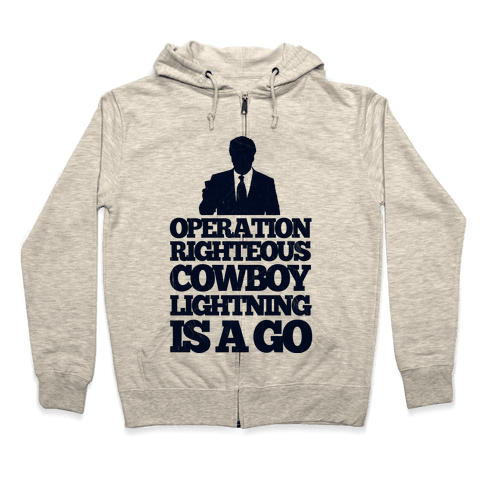 Operation Righteous Cowboy Lightning Zip Hoodie
