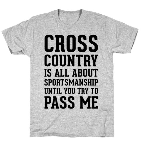 Cross Country Is All About Sportsmanship T-Shirt