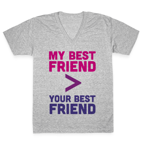 My Best Friend V-Neck Tee Shirt