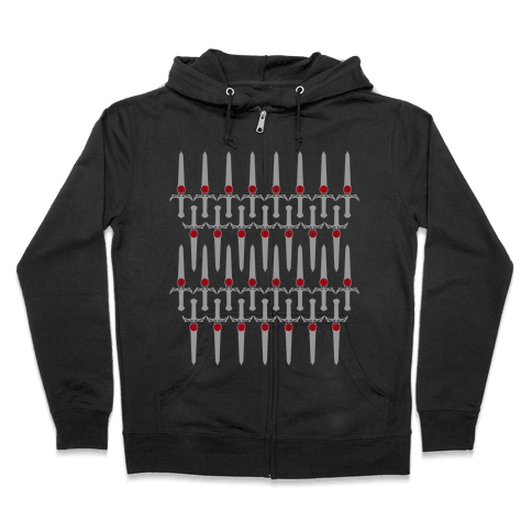The Sword of Omens Zip Hoodie