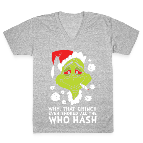 Who Hash V-Neck Tee Shirt
