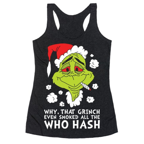 Who Hash Racerback Tank Top