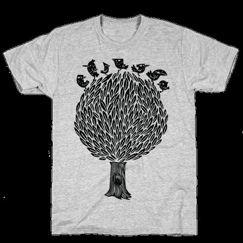 Birds on a Tree Mens T-Shirt