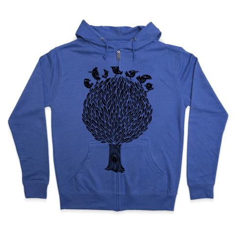 Birds on a Tree Zip Hoodie