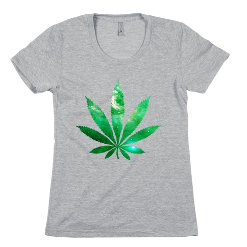 Galaxy Leaf Womens T-Shirt