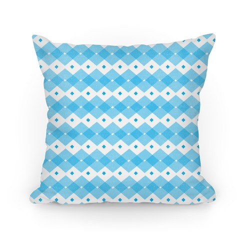 Blue Checkered Pattern Pillow