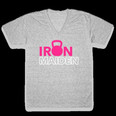 Iron Maiden (Kettlebell) V-Neck Tee Shirt