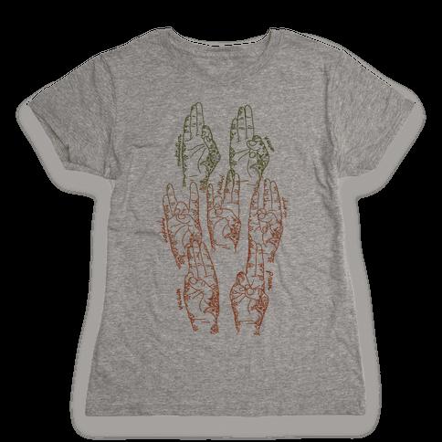 Healing Yoga Mudras Womens T-Shirt
