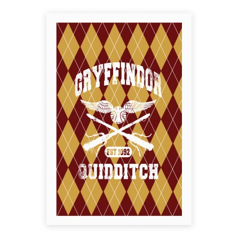 Gryffindor Quidditch Poster