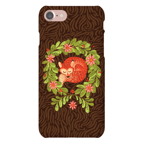 Sleeping Fox Wreath Phone Case