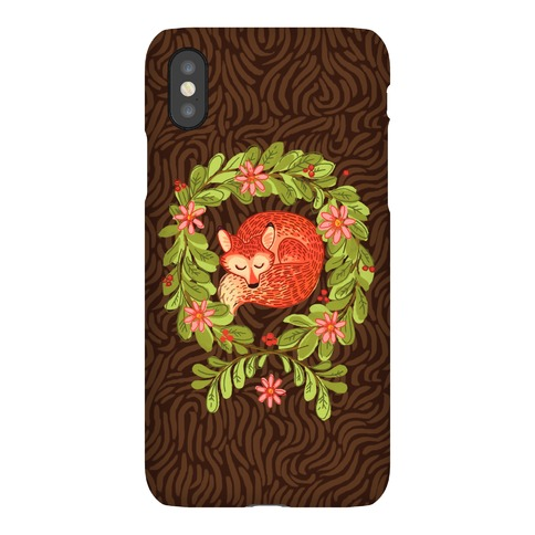 Sleeping Fox Wreath Phone Case