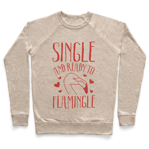 Single And Ready To Flamingle Pullover