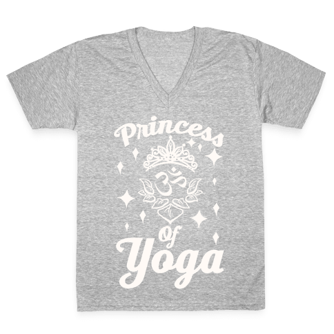 Princess Of Yoga V-Neck Tee Shirt
