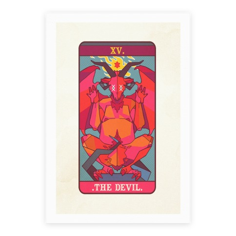 Devil Tarot Card Poster