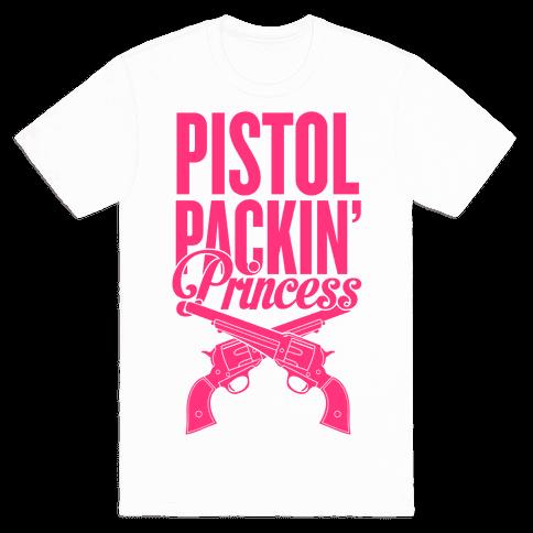 Pistol Packin' Princess Mens T-Shirt