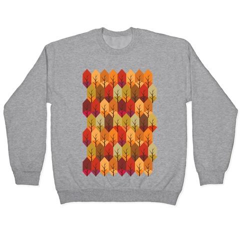 Geometric Fall Leaf Pattern Pullover