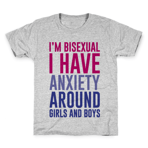 Bisexual Anxiety Kids T-Shirt