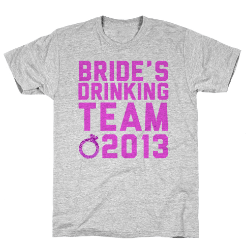Bride's Drinking Team Mens T-Shirt