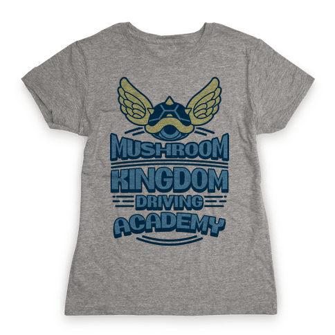 Mushroom Kingdom Driving Academy Womens T-Shirt